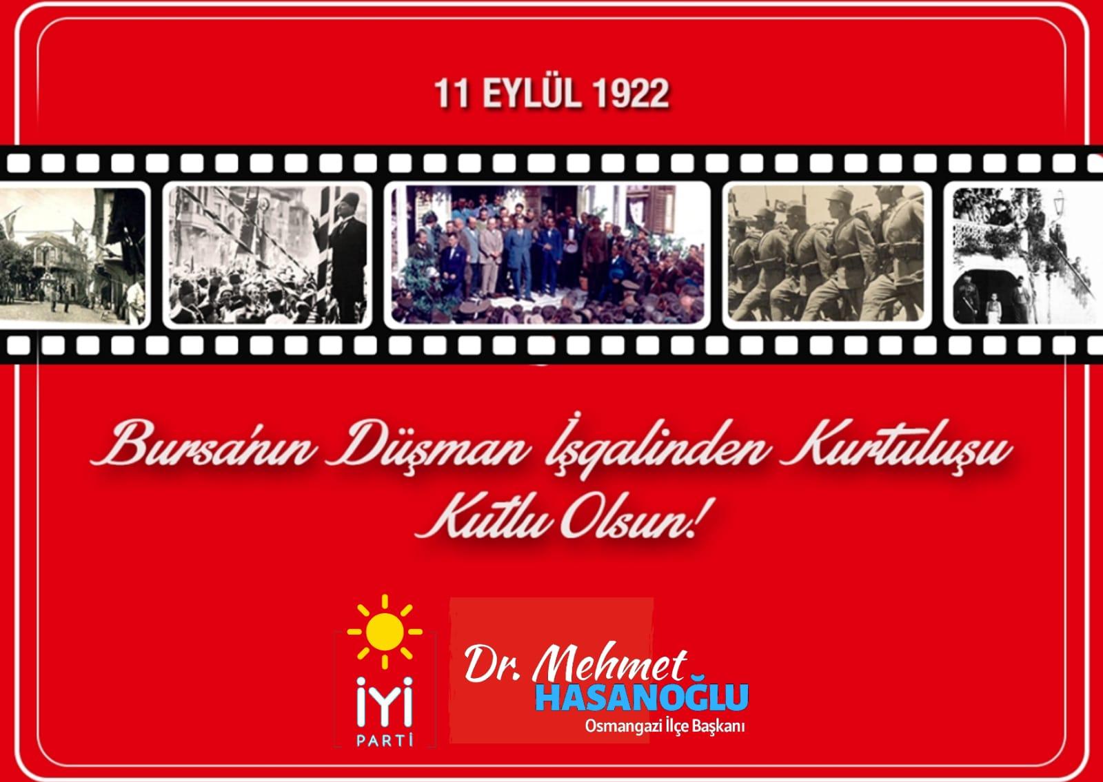 Bursa'nın Kurtuluşunun 98. Yılı Kutlu Olsun